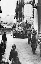 WW2 Picture Photo 1942 Crete German paratroopers with Marder tank destroyer 2940