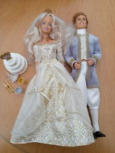 Barbie Cinderella and Prince Wedding dolls, Princess Collection, Mattel