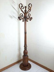 Coat Rack Tree Vintage Hat Hanger Storage Metal Wood Clothes Entryway Organizer