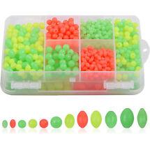 1000pcs рыболовные бусины ассортимент набор мягкие пластиковые овальные круглые рыболовные приманки для яиц
