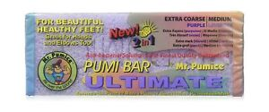 Mr. Pumice Ultimate Pumi Bar 2 in 1 (Coarse/Medium), Lavender/Purple, 1 piece