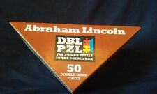 Double Puzzle President Abraham Lincoln 50pc