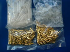 3.9 - 4mm Quality Bullet Terminal 100 Sets - Male and Female with Sleeves