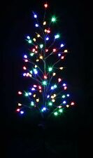 1.2M 77 LED Multi Colours Brown Christmas Bare Tree Flashing and Steady On