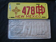 "New Mexico License Plate 1946 HIGHWAY DEPARTMENT  ""478"" original condition NM 46"