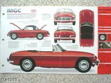 1967/1968/1969 MG-C MGC SPEC SHEET/Brochure/Catalog/