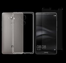 Huawei Mate 8 TPU Silikon Schutzhülle Hülle Cover Bumper Case + PANZERGLAS Folie