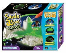 Sands Alive Glow Starter Set Creative Play Modelling Sand Moulding Toys Games
