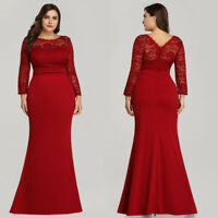 Ever-Pretty Plus Womens Dress Long Evening Dress Lace Cocktail Party Prom Gowns