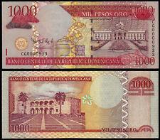 More details for dominican republic 1000 pesos oro (p180a) 2006 prefix cg0000933 low number unc