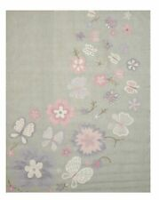 Gray Transitional Kid's Butterfly Rug