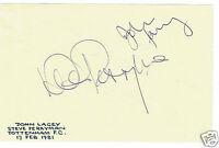 Steve Perryman John Lacy Footballers Tottenham Hotspurs Hand Signed Paper 6x4