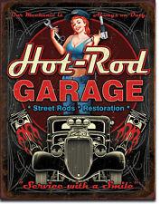 Hot Rod Oldtimer Rockabilly Werkstatt Mechaniker Auto Deko Poster Schild *252