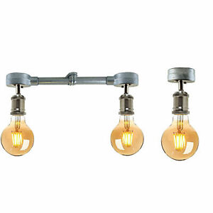 Industrial Retro Pendant Light Ceiling Lights Metal Lamp Galvanized Pip Fixture