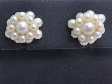 Ohrringe earrings 333 GOLD 8 Karat Gelbgold Ohrstecker Perle Jugendstil Art Deco