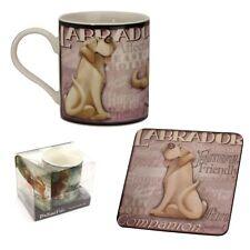 My Pedigree Pals 8305 Mug and Coaster Yellow Labrador Dog