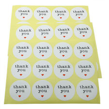 """1.5"""" Thank You Round Smooth Paper Sticker Labels Packaging Seals Crafts Wedding"""