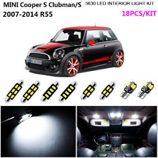 18Pcs Cool White 6K Interior Dome Light Kit LED Fit MINI Cooper S Clubman/S  R55