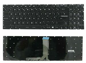 QWERTY UK keyboard Crystal key BACKLIT MSI GT72VR 7RE/7RD GE73VR /IN88-UK