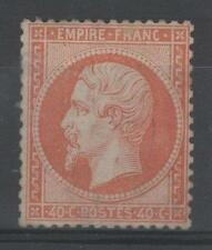 "FRANCE STAMP TIMBRE N° 23 "" NAPOLEON III 40c ORANGE 1862 "" NEUF A VOIR M858"