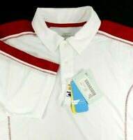 Extreme Performance NEW Polo Shirt Mens Size L Large White Red Moisture Wicking