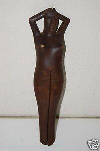 Vintage Handmade Wooden Nude Women Funny Nutcracker Lift Leg Lemon Lime Squeeze