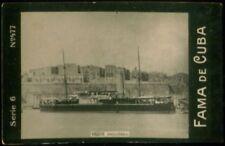 ORION SHIP TOBACCO CARD, FAMA DE CUBA CIGARETTES VENEZUELA CIRCA 1910