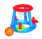 BESTWAY INFLATABLE SWIMMING POOL FLOATING BASKETBALL TOSS HOOPS RING GAME CENTER