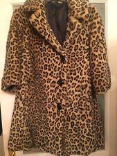 c4bd8cc4576 Topshop Premium Celebrity Leopard Animal Print Faux Fur Coat - Size 10