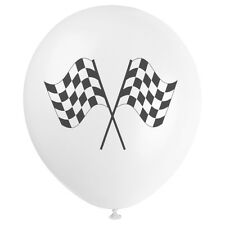 Quality Latex Party Balloon Set - Checkered Flag / Grand Prix / Racing Balloons