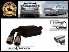 SILENCIEUX POT D'ECHAPPEMENT BMW 3 E90 E91 320d 2006-2008 2009 2010 TIP 2x70