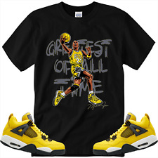 """New listing Greatest of All time T-Shirt Matching Retro 4s """"Lightning"""""""
