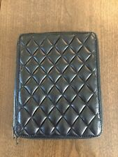 H BY HARRIS Black Quilted Leather iPad Case $193