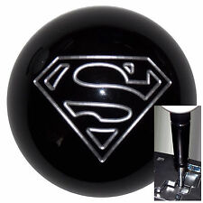 Black Superman shift knob w/ black adapter for automatic shifters See desc.
