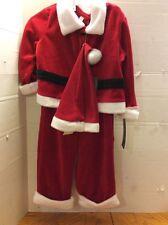 Infants Cherokee Three Piece Red Santa Suit 6/9 Months