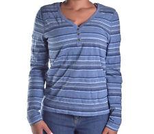Ralph Lauren Womens Casual Stripe Henley Button Up Shirt Size Small