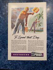 Ori 00004000 ginal Vintage Magazine Ad - 1944 - Greyhound World War Ii Coming Home Signed