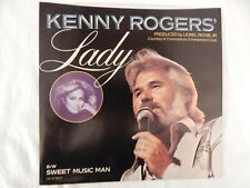 """KENNY ROGERS  """"Lady"""" PICTURE SLEEVE! NEW! ONLY NEW COPY ON eBAY!!"""