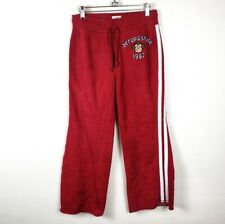 VINTAGE AEROPOSTALE Sweatpants Red Striped Sweats Joggers Track Pants Jrs Small