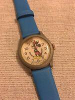 c1970s Bradley Mickey Mouse Wrist Watch Swiss Made Walt Disney Productions