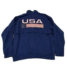 VTG Nike Team USA 1996 Atlanta Summer Olympics Windbreaker Jacket Mens XL