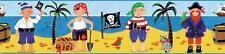 New TREASURE HUNT PEEL AND STICK WALLPAPER BORDER Boys Pirates Room Wall Decor