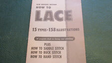 HOW TO LACE  Booklet Leather lacing and stitching VINTAGE New