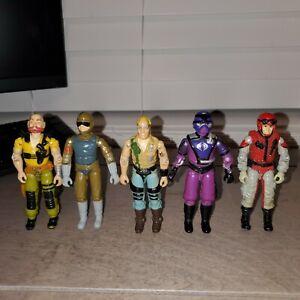 G.I. Joe Original Vintage Lot Of 5 Action Figures ARAH 1987 Hasbro 1983 Tripwire