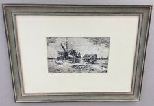 Early Pen Drawing Of Shipwrecked Convict Ship