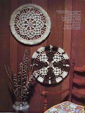 Vtg Macrame Mandala Round Hanging Wall Art Pattern Delightful Macrame Book HH37