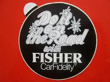 AUTOCOLLANT STICKER AUFKLEBER FISHER CAR FIDELITY AUTORADIO DO IT ON THE ROAD