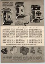 1956 PAPER AD Polaroid Pathfinder Folding Camera Speedliner