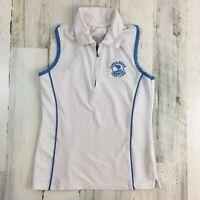 Pebble Beach Golf Links Girls Sz S 5 6 Tank Top Shirt Quarter Zip UPF 50+ Garb