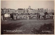 POSTCARD  SPORT  HORSE  RACING  DONCASTER  parading in the  Paddocks      RP